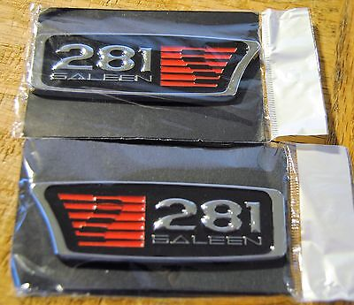 Twins==1999-2004 FORD MUSTANG SALEEN S281== S-281  EMBLEMS ==NEW
