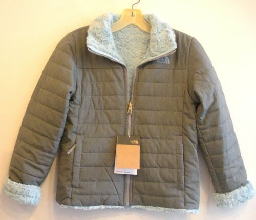 THE NORTH FACE GIRLS REVERSIBLE MOSSBUD SWIRL JACKET-A3Y7E-MID GREY-S,M,L,XL