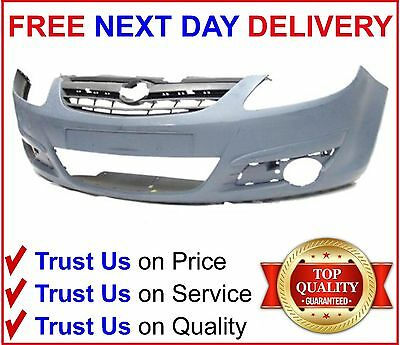 Front Bumper Primed Vauxhall Corsa D 2006 2011 Brand New High Quality