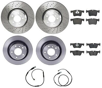 For BMW 335i Pair Set of Front Left /& Right Vented Disc Brake Rotors Zimmermann