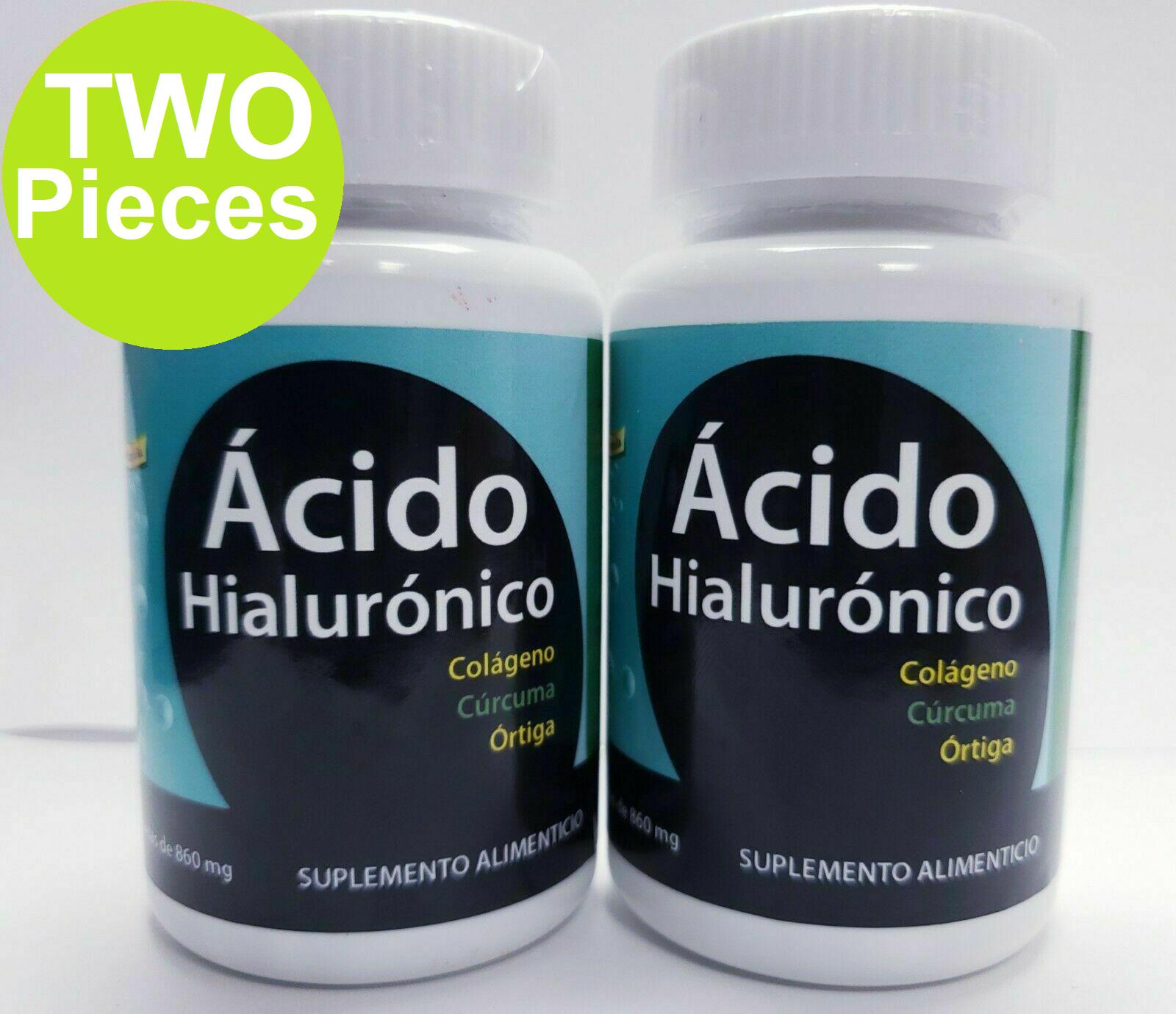 2 Pack ACIDO HIALURONICO + COLAGENO +ORTIGA CURCUMA CONDROITINA 30 caps