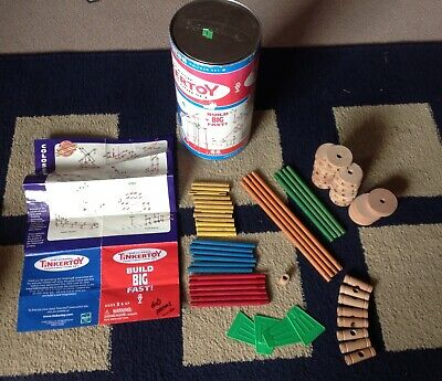 Hasbro TINKERTOY Classic Construction Set Junior Builder 60 Pieces In Container](Construction Containers)