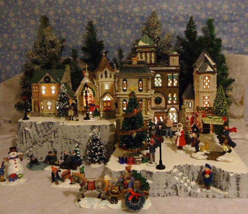 Christmas A Snow Village Display Platform Base for Dept 56 Lemax 2 pc