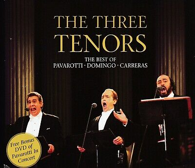 THE THREE TENORS Best Of Pavarotti Domingo Carreras 2-CD & DVD 3 DISC (The Three Tenors The Best Of The 3 Tenors)