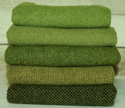 "HAND DYED RUG HOOKING WOOL Mill-Dyed ~ ""GREEN with ENVY-II"""