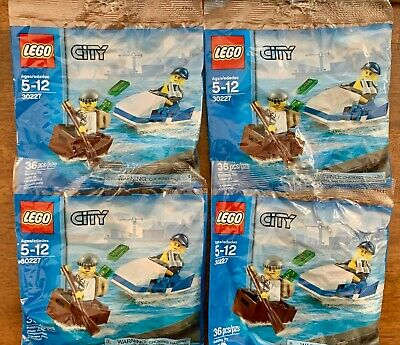 LEGO Police Watercraft Polybag #30227 x4 Polybags City Stocking Favor NEW