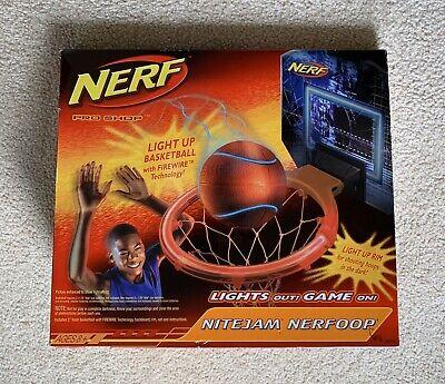 Hasbro Nerf Nite Jam Nerfoop Light Up Glow in the Dark Basketball Game- New!