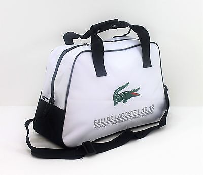 LACOSTE  WHITE MENS HOLDALL / SPORT / GYM / TRAVEL/ OVERNIGHT BAG - NEW