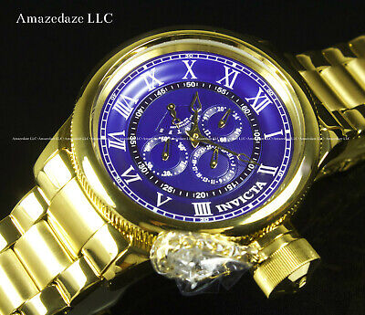 Invicta Men 52mm Russian Diver Multi Function Stainless Steel Blue Dial Watch !!