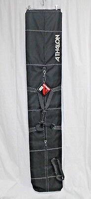 d33942d3cf  ATHALON SINGLE SKI BAG 185CM -  124 BLACK HOLDS 1 PAIR OF SKIS NEW