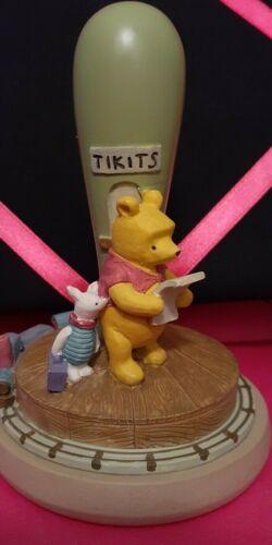 Winnie The Pooh & Piglet Train Station Tikit Brown Bag Cookie Press Stamp 1997