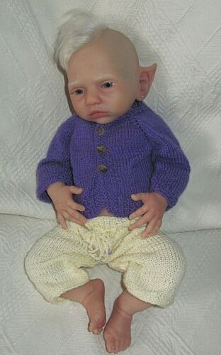 17-18 inch Baby Doll handknitted jacket, pant /Reborn handknitted outfit