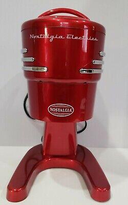 Nostalgia Electric Shaved Ice Snow Cone Machine Maker Rism900retrored