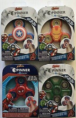 Marvel Avengers Fidget Spinners 4 Pack Captain America Ironman Spiderman Hulk