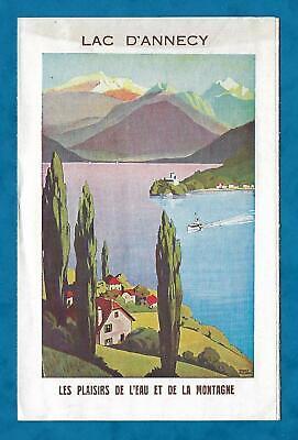 1930s ILLUSTRATED VINTAGE TRAVEL ADVERTISING LEAFLET ANNECY, SOUTH EAST FRANCE