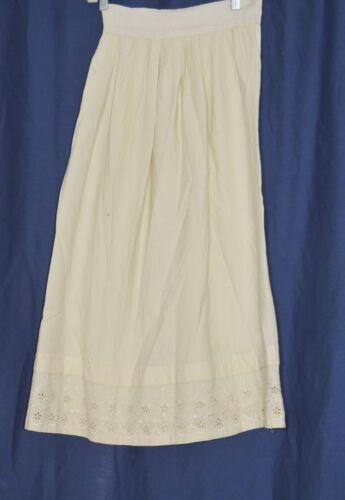 Victorian Hand Embroidered Cream Flannel Petticoat / Childs? Tween?