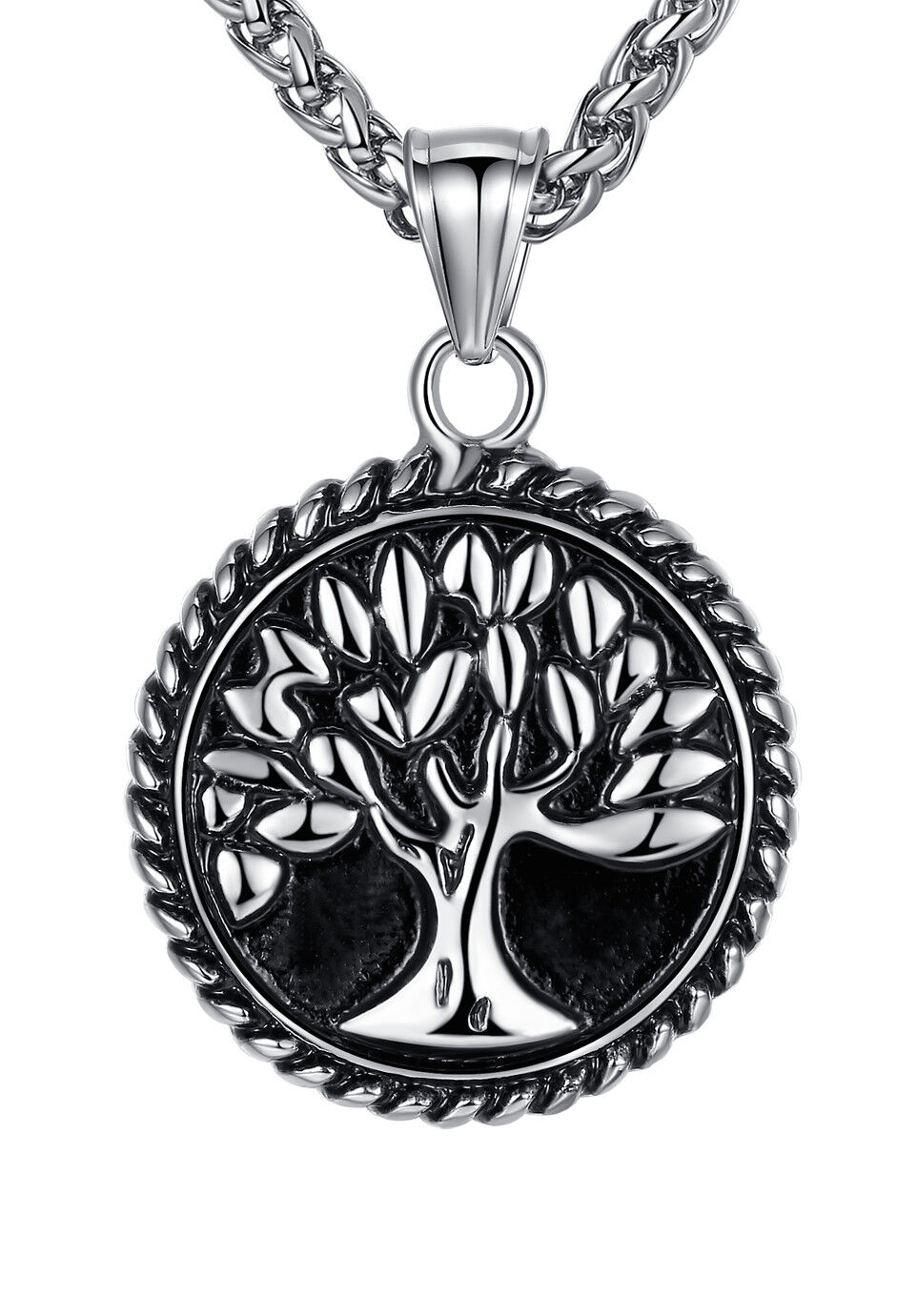 Stainless Steel Tree of Life Men's Women's Pendant Necklace Chains, Necklaces & Pendants