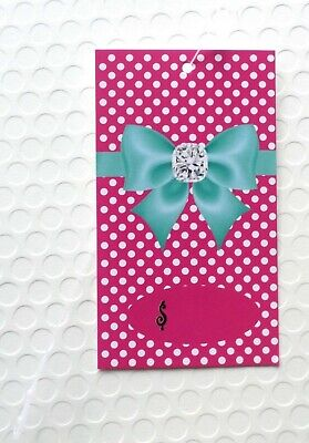 100 Hang Tags Accessories Tags Cute Bow On Pink Tags Clothing Tags Plastic Loops