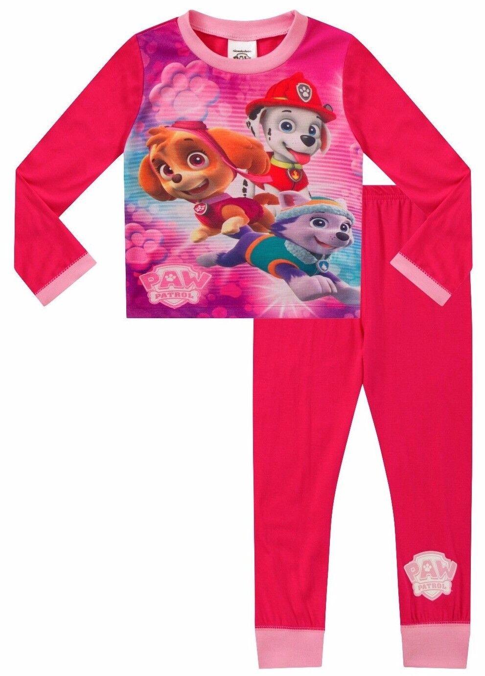 Girls Paw Patrol Long Pyjamas Paw Patrol Pjs  Nick Jr 5 to 7