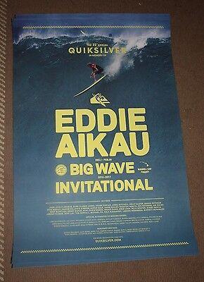 EDDE AIKAU WOULD GO QUIKSILVER 16/17 SURF POSTER hawaiian HAWAII 2016 2017
