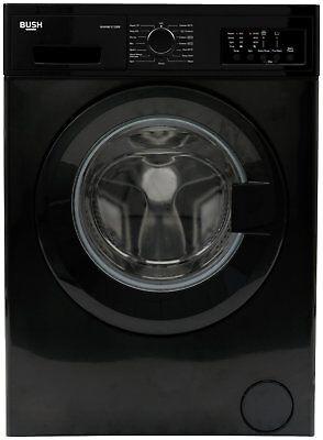 Bush WMNB1012EB Free Standing 10KG 1200 Spin Washing Machine A+++ Black