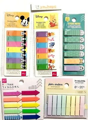 Sticky Notes Memo Pad Disney Index Character Sticker Bookmark Page Flag Mickey