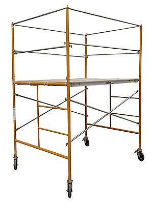 5 Rolling Tower W Deluxe Safety Rails - 5 Scaffold Tower