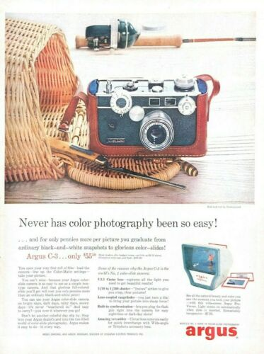 1957 Argus Camera Vintage Print Ad Never Has Color Photography Been So Easy