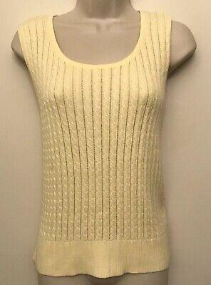 Sleeveless Knit Tank Top Shirt (NWT Jeanne Pierre Shirt Large Yellow Scoop Neck Sleeveless Knit Tank Top)