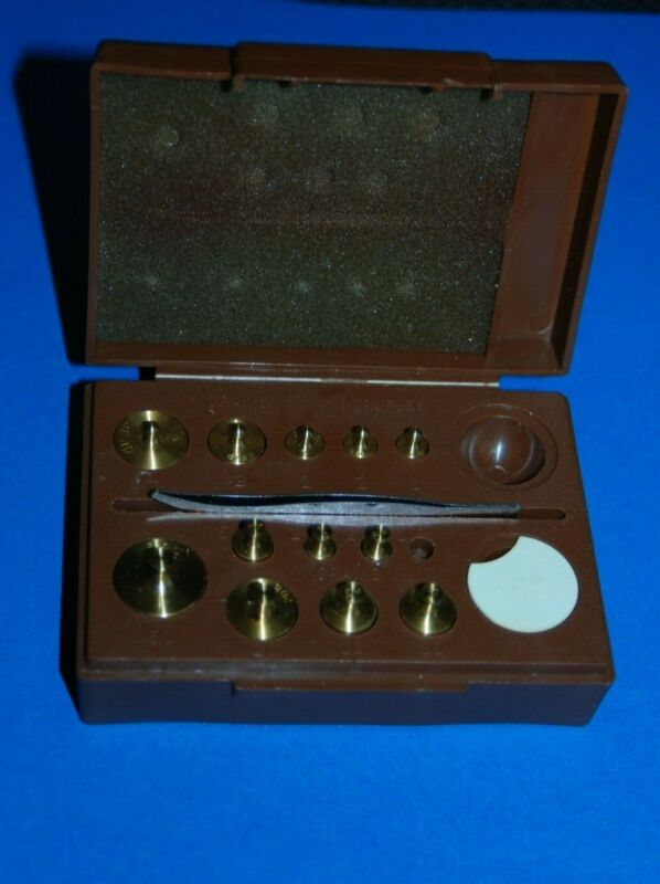 TORBAL Apothecary Weight Set Grams Drams Weights with Plastic Case Box