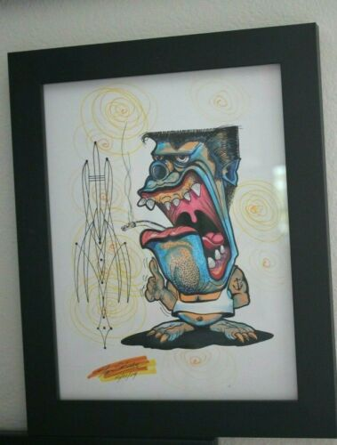 NEW-ORIGINAL-HAND PAINTED--TOM KELLY--VON FRANCO-ED ROTH-STANLEY MOUSE-RAT FINK