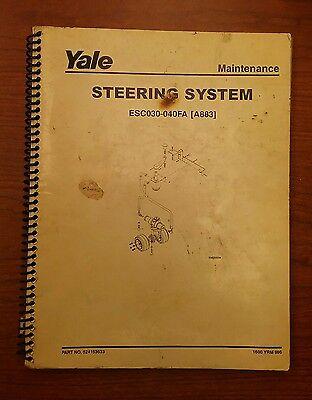 Yale Steering System Manual Esc 030-040fa A883