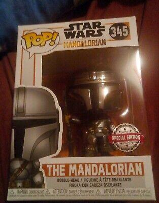 Special Edition Funko POP Star Wars The Mandalorian (Chrome helmet) #345