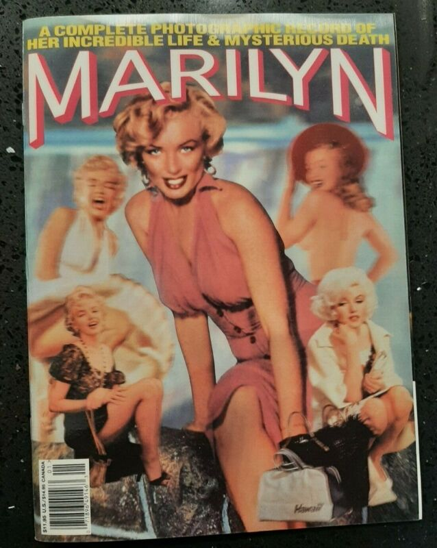 1994 3-D MARILYN MONROE - COMPLETE PHOTOGRAPHIC RECORD MAGAZINE - HOLOGRAPHIC