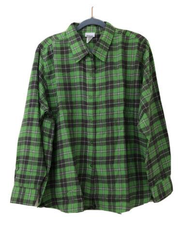CW Classics Women's Plaid Check Flannel Shirt Plus Size 2X G