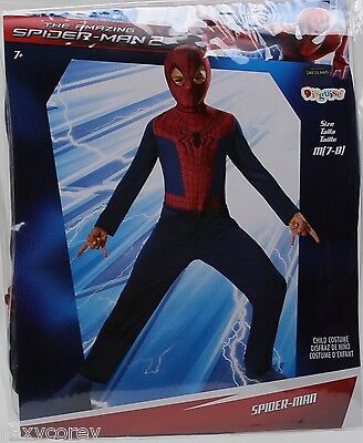 Halloween Boys Amazing Spider-Man 2 Jumpsuit Costume Size Medium 7-8 NWT