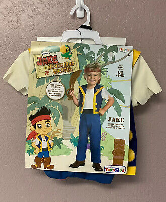 Jake The Pirate Costumes (Jake and the Neverland Pirates Disguise Size Large 4-6)