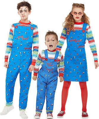 Chucky Kids Fancy Dress Halloween Horror Killer Doll Boy Girl Toddler Costume US