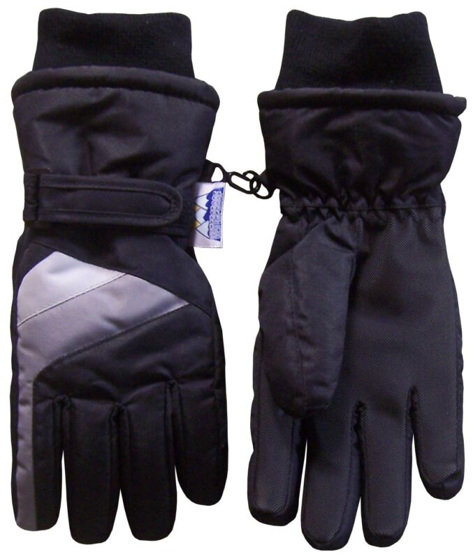NICE CAPS Boys Youth Thinsulate Waterproof Colorblock Skiing Snow Winter Gloves