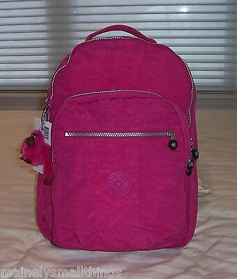 NWT Kipling SEOUL Backpack with Laptop Protection VERY BERRY PINK BP3020