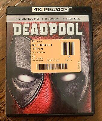 Deadpool 4K UHD + DVD 2016 no digital copy  Free Shipping