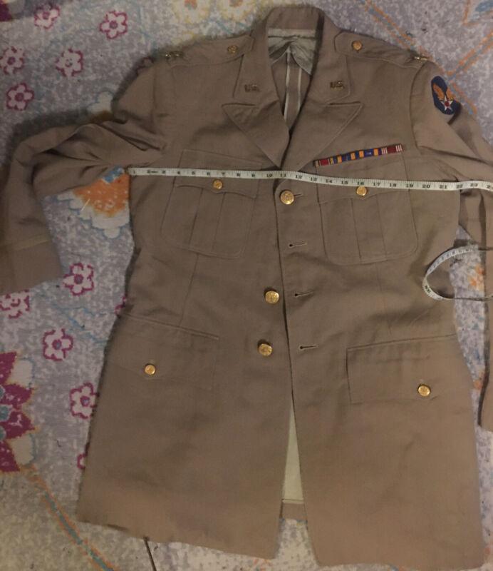 Big Size 44l Usaaf Officers Sutan Jacket Felt Hq Dfc Victoty  RibbonsMajors Rank
