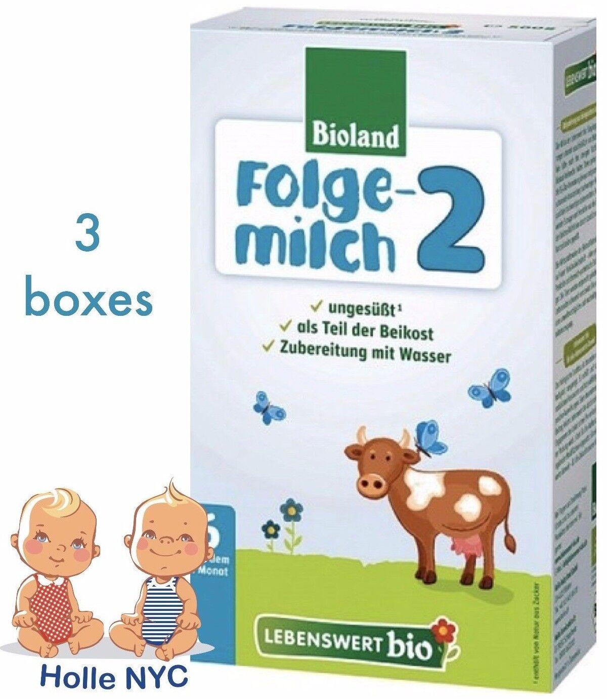 Holle Lebenswert Stage 2 Organic Formula,3 BOXES,500g 10/2019 FREE SHIPPING - $58.95