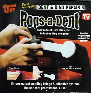 PRO CAR DENT HAIL DINT DAMAGE REPAIR REMOVER REMOVAL TOOL KIT SET POPS DING