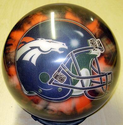 14 2006 Helmet Style Otb Viz-a-ball Nfl Denver Broncos Bowling Ball