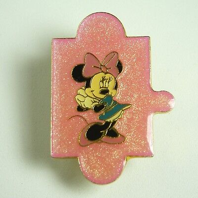 Blue Puzzle Piece Pin (Disney Pin DLP Minnie Mouse Pink Puzzle Piece Disneyland Resort Paris Blue)