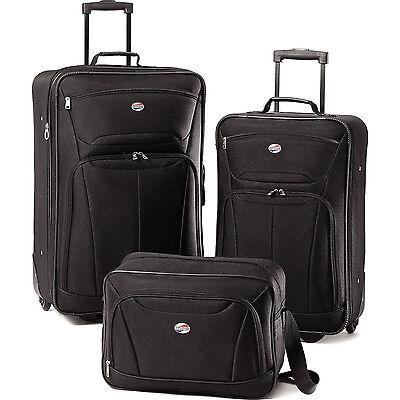 American Tourister Fieldbrook II Three-Piece Luggage Set (Black)