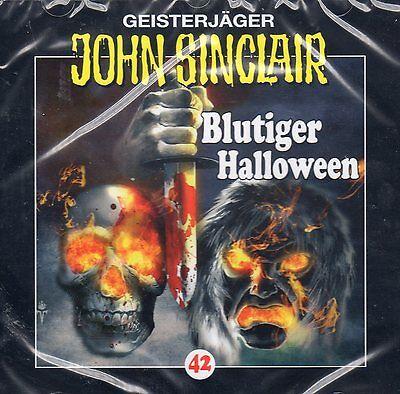 JOHN SINCLAIR - Teil 42 - Blutiger Halloween - AUDIO CD - NEU - Blutiger Halloween John Sinclair