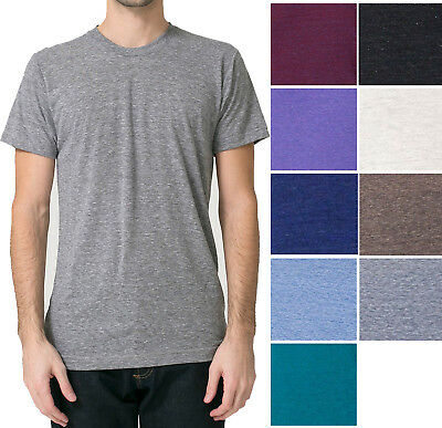 American Apparel Tri Blend T Shirt Vintage Soft Track Tee XS, S, M, L, XL, 2X - American Apparel Tri Blend