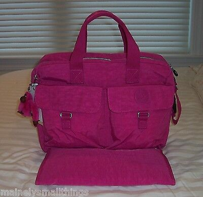 NWT Kipling Large Baby Diaper Tote Bag VERY BERRY PINK TM2406